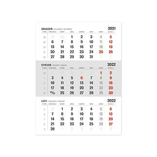 Kalendarze biurkowe miesięczne klejone