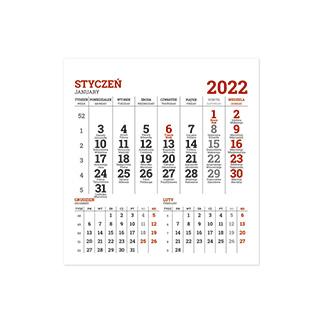 Kalendarze biurkowe piramidki, miesięczne na spirali
