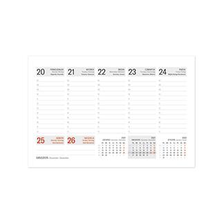Kalendarze biurkowe piramidki, tygodniowe na spirali