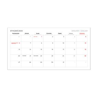 Kalendarze biurkowe piramidki z okienkiem magnetycznym