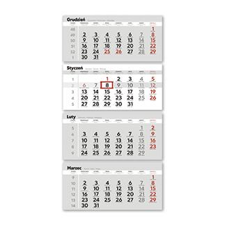 Kalendarze czterodzielne ekonomiczne