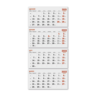 Kalendarze czterodzielne standardowe