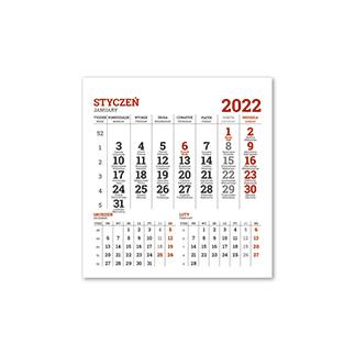 Kalendarze jednodzielne na lodówkę