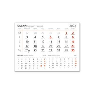 Kalendarze jednodzielne standardowy