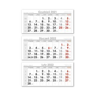 Kalendarze trójdzielne Lux