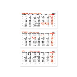 Kalendarze trójdzielne z lakierem punktowym